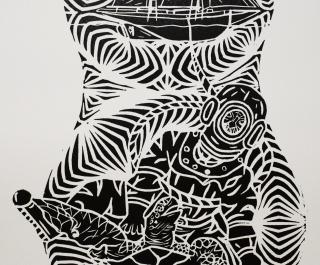 """""""Torres Strait Islander Pearling"""" a print by Samuel Savage"""