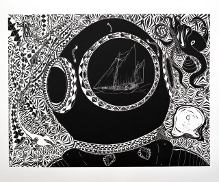 """""""Pearling Days"""" a print by artist Samuel Savage"""